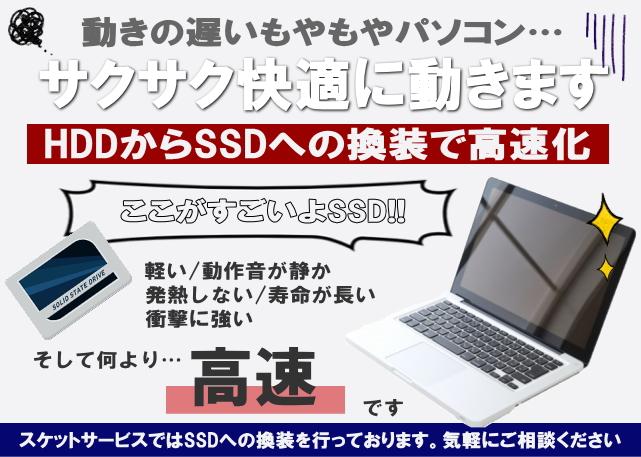 SSDに交換